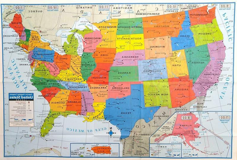 superior mapping company united states poster size