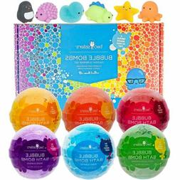 Squishy Bubble Bath Bombs for Kids with Surprise Squishy Toy
