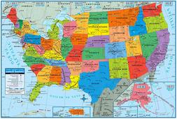 Superior Mapping Company United States Poster Size Wall Map